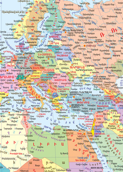 COLLAGE LTD | Map of the Europe